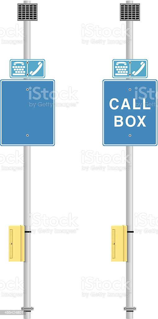 Road Side Call Box royalty-free stock vector art