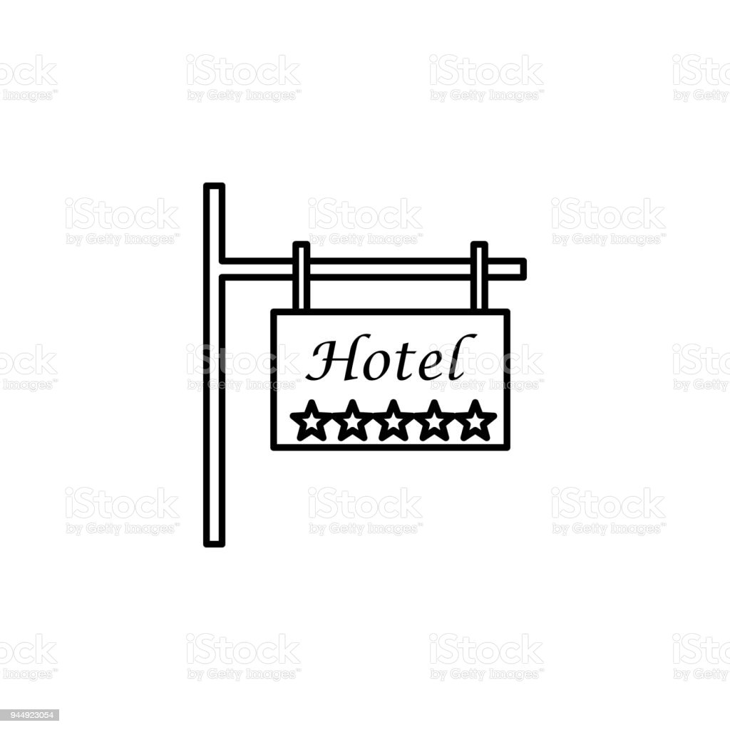Road Sign 5 Star Hotel Icon Element Of Otel And Motels For Mobile Concept