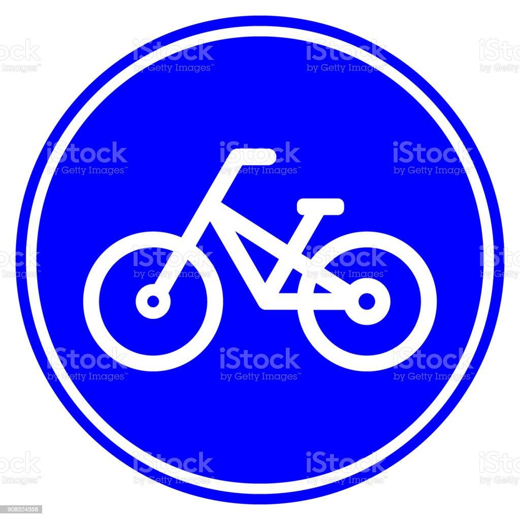 Ilustración de Signo De Carretera De Carril Bici Icono De Bicicleta ...
