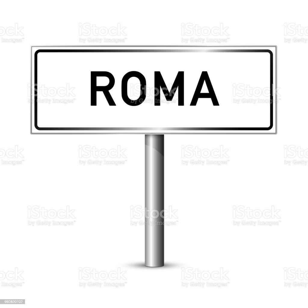 Straße Zeichen - Hauptstadt Rom Signage - Italien – Vektorgrafik