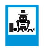 Road sign: Car ferry.