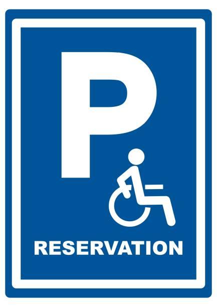 señal de carretera para aparcamiento de pasajeros, EPS - ilustración de arte vectorial