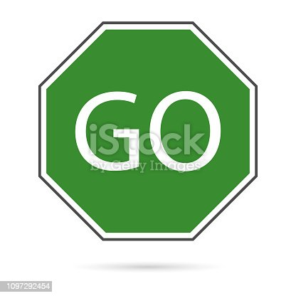 Road sign icon, vector illustration. - Vector