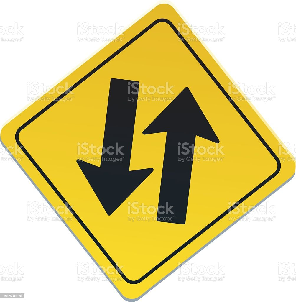 road sign of two ways arrows stock vector art more images of arrow