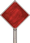 Road Sign | Red Grunge