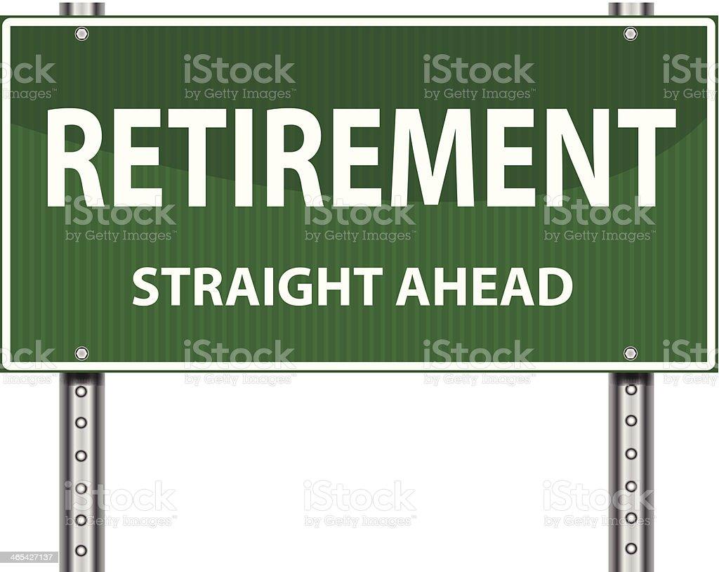 Road Sign | Retirement vector art illustration