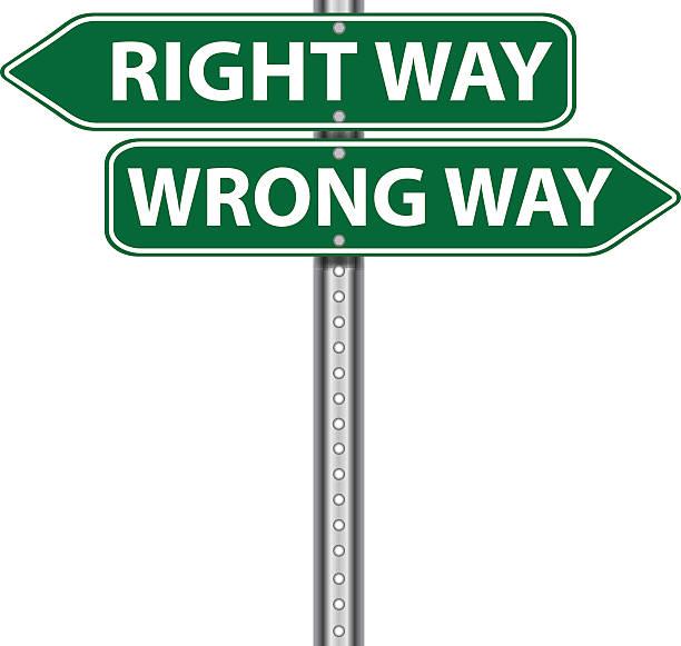 royalty free wrong way sign clip art vector images illustrations