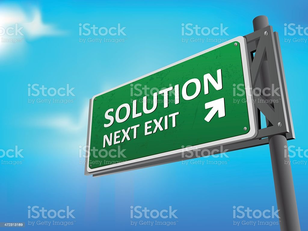 Road sign Solution royalty-free stock vector art