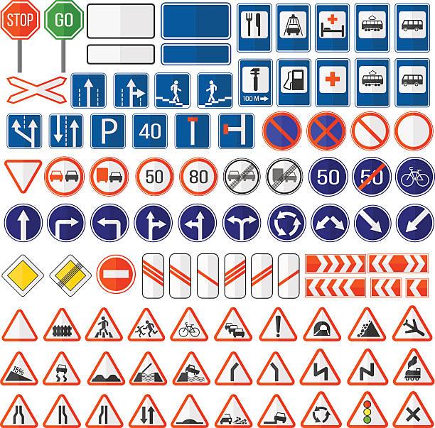illustrations, cliparts, dessins animés et icônes de road sign vector icon. - rond point