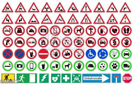 road sign vector set
