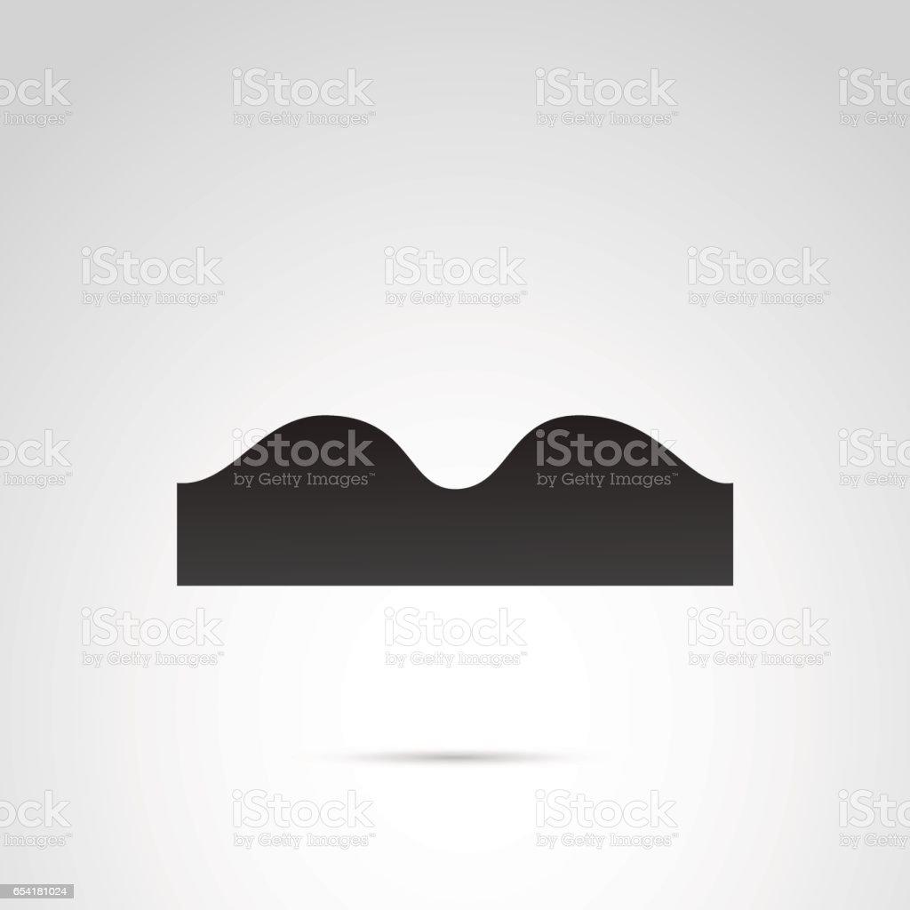Road sign vector symbol. vector art illustration