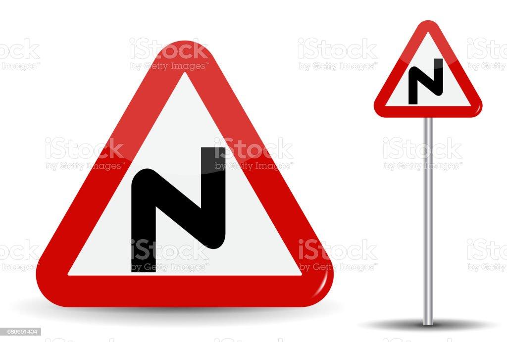Verkehrsschild Achtung Gefährlich Macht Im Roten Dreieck Ist Eine ...