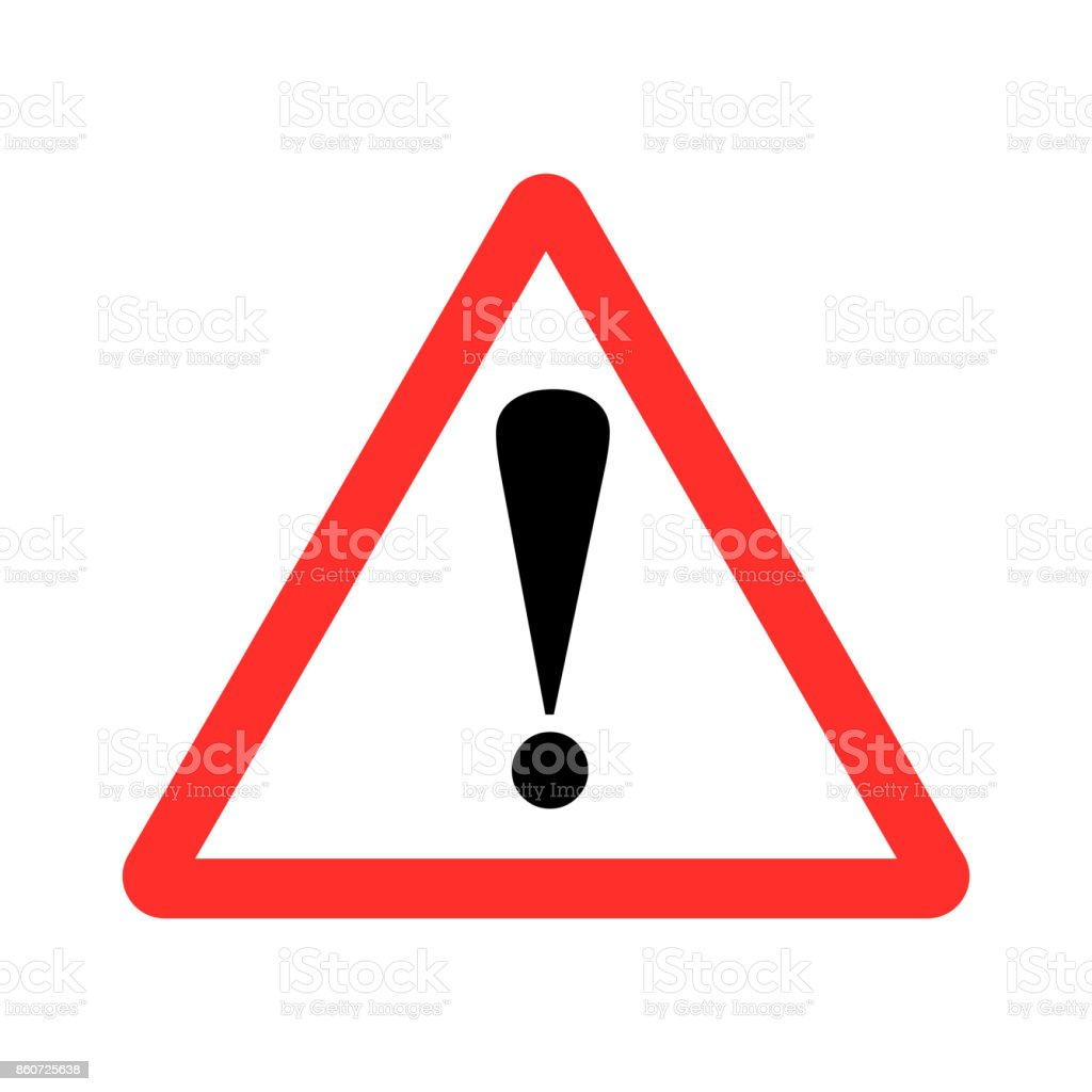 Straßenschild, Vektor-Warnschild – Vektorgrafik