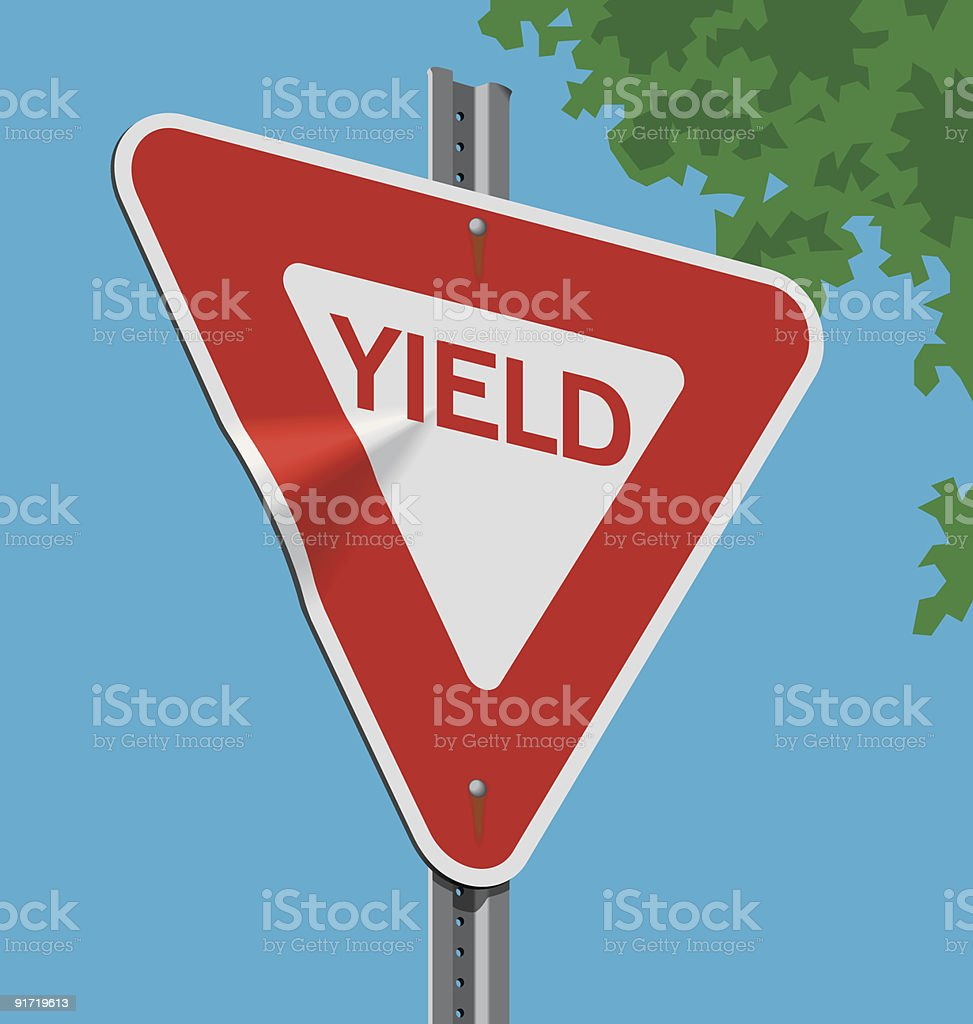 Road sign; Yield royalty-free stock vector art