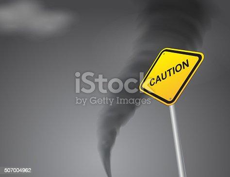 istock Road sign---Caution 507004962