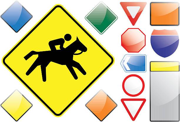 US-Verkehrszeichen – Reiten – Vektorgrafik
