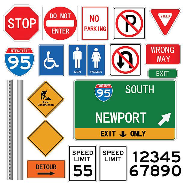 Road signs illustration vector art illustration