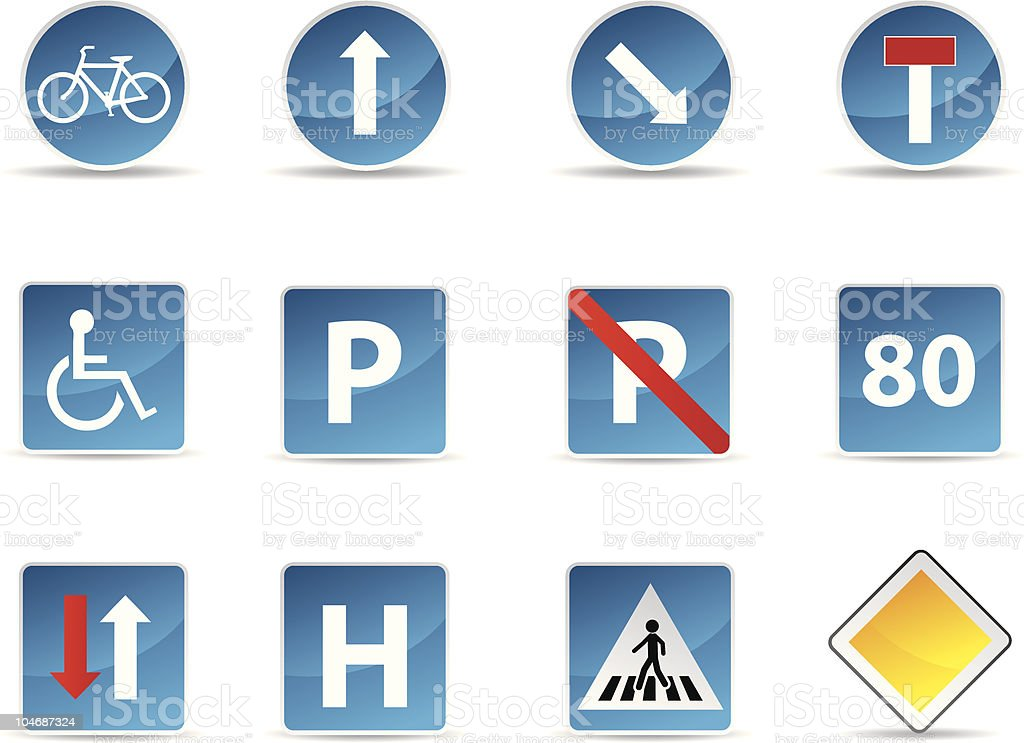 Road signs set royalty-free road signs set stock vector art & more images of bicycle