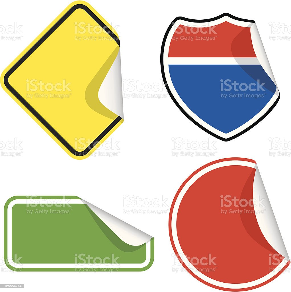 Road signs | sticker series royalty-free stock vector art