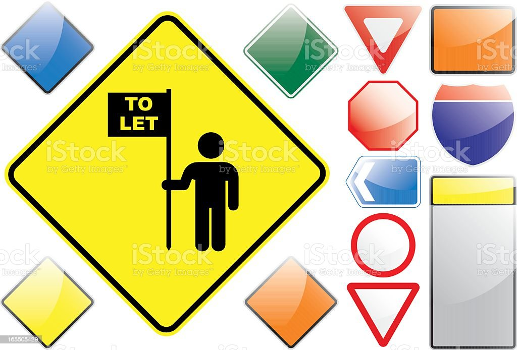 US Road Signs – To Rent royalty-free us road signs to rent stock vector art & more images of black color