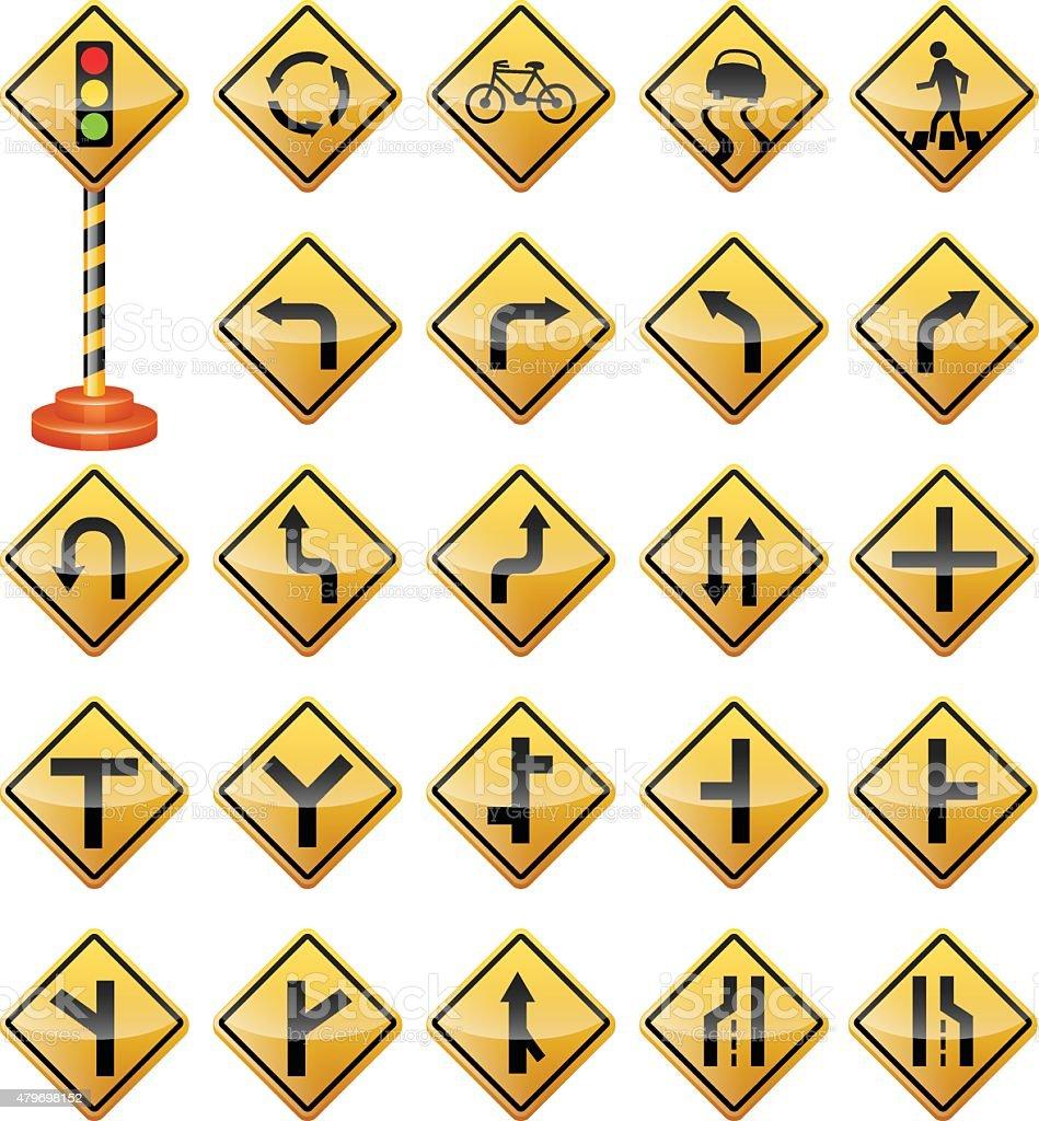 Ilustración de Road Carteles Señales De Tráfico Señales De ...