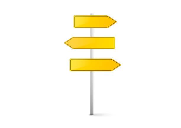 路標。 - 方向標誌 幅插畫檔、美工圖案、卡通及圖標