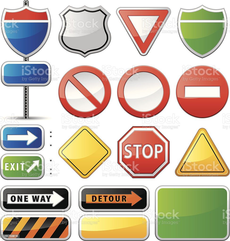 Road Signs (Vector) vector art illustration