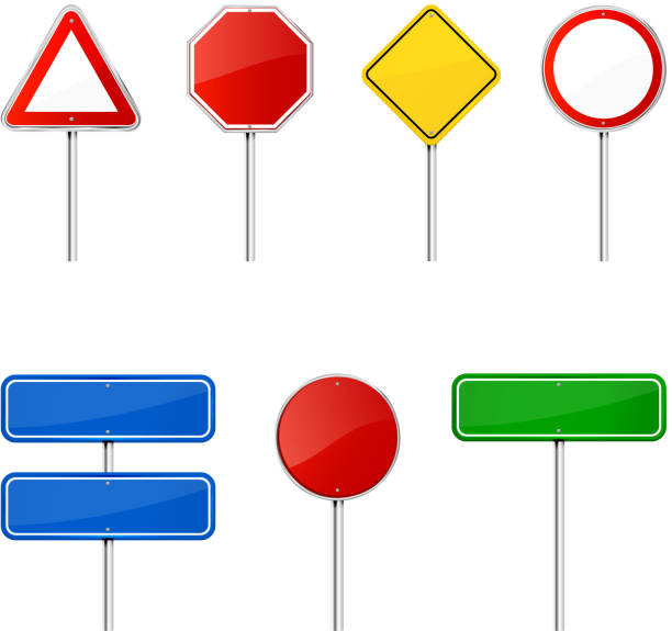Best Blank Road Sign Illustrations, Royalty-Free Vector ...
