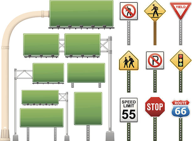 Señales de carretera - ilustración de arte vectorial