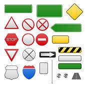 Road signs in vector