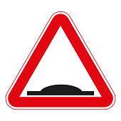 road signs vector. traffic sign. Road bump.