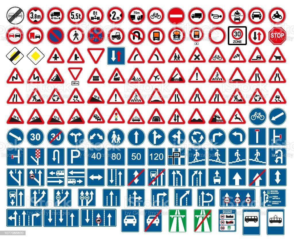 road signs vector. traffic sign. royalty-free road signs vector traffic sign stock illustration - download image now