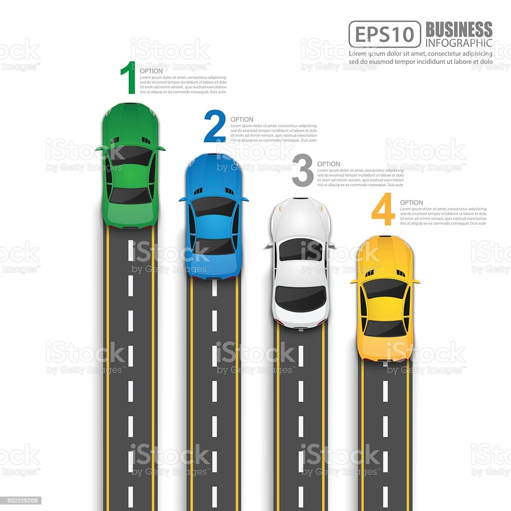 Road & Street Infographic Design Template,Vector Illustration vector art illustration