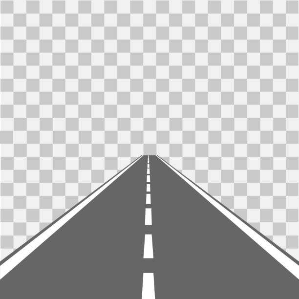 straße, straße mit asphalt. autobahn. vektor-illustration. - straße stock-grafiken, -clipart, -cartoons und -symbole