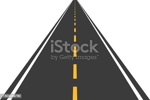 istock Road, street with asphalt. Straight highway, speedway for motor transport. Vector illustration 1304046790