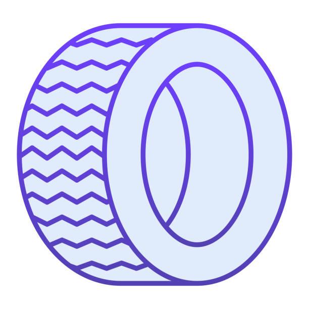 illustrazioni stock, clip art, cartoni animati e icone di tendenza di icona piatta degli pneumatici da strada. icone blu ruota automatica in stile piatto alla moda. design dello stile sfumato della parte dell'auto, progettato per il web e l'app. eps 10. - transport truck tyres