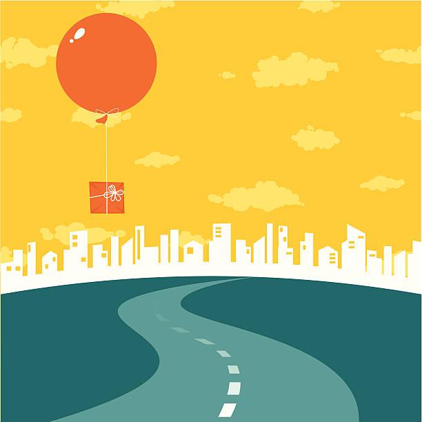 droga do miasta - horyzont stock illustrations