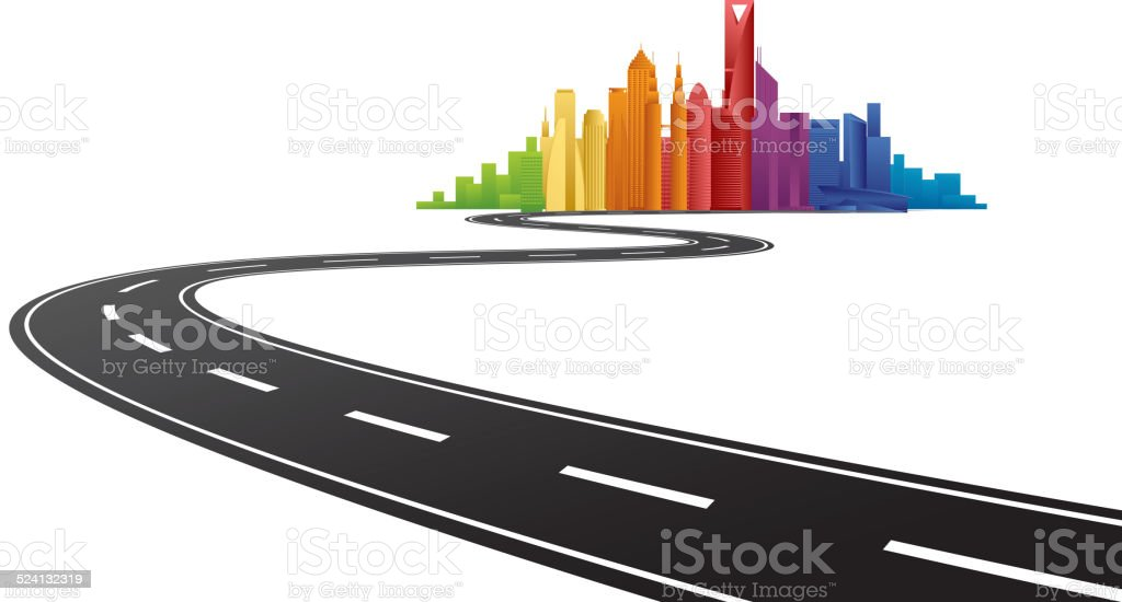 road to city stock vector art more images of abstract 524132319 rh istockphoto com city victorville ca city victorville ca
