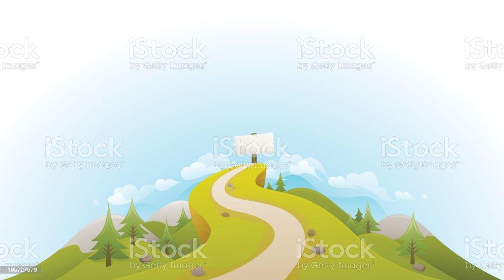 Road to Success Landscape vector art illustration