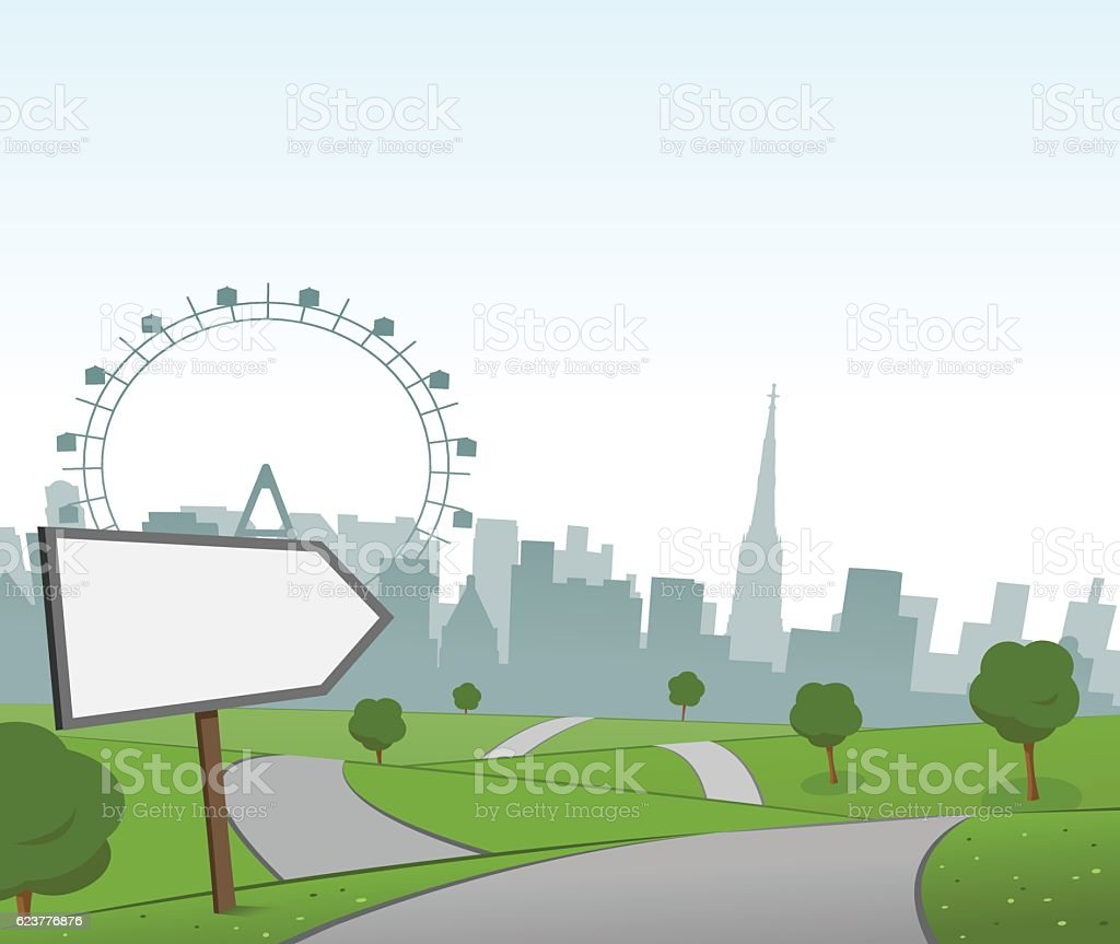 Road to Vienna vector art illustration