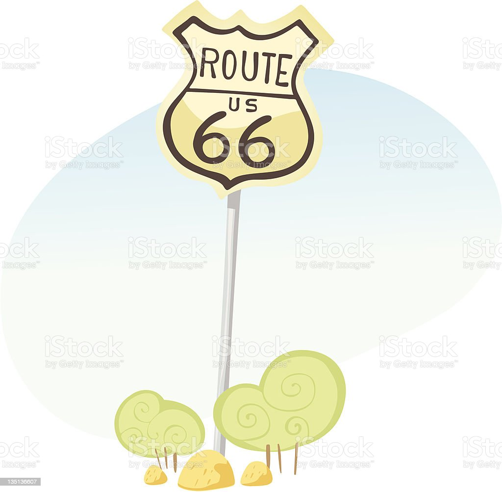 Road Traffic Sign Route 66 royalty-free road traffic sign route 66 stock vector art & more images of highway