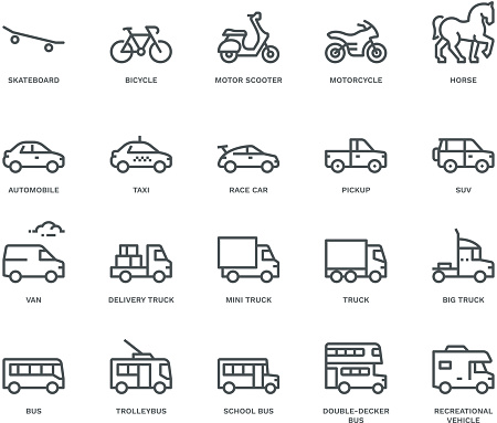 car icons stock illustrations
