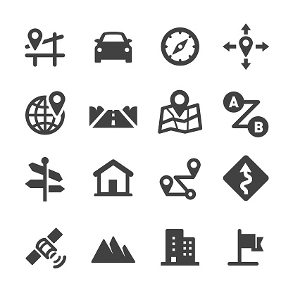 Road Trip and Navigation Icons - Acme Series