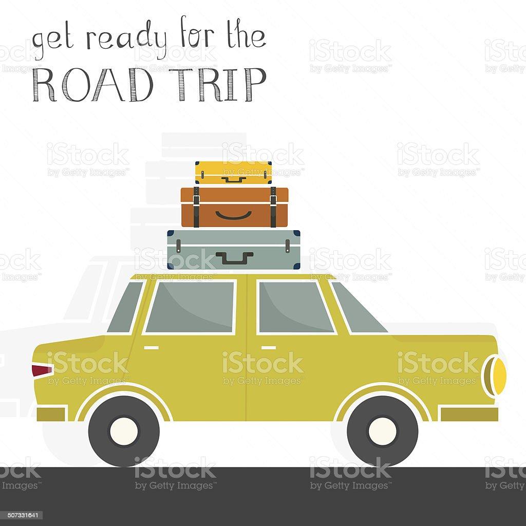 Road Trip Concept vector art illustration