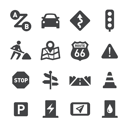 Road Trip Icons - Acme Series