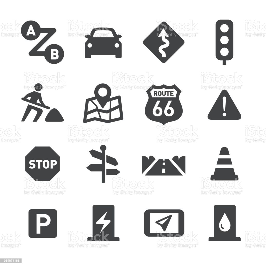 Road Trip Icons - Acme Series - illustrazione arte vettoriale