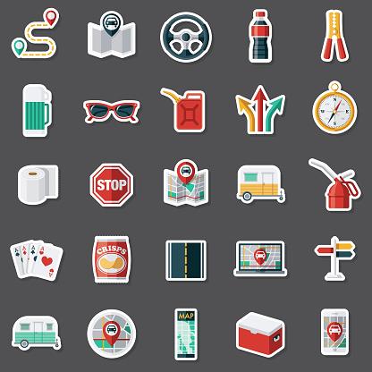 Road Trip Sticker Set