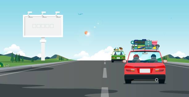 illustrations, cliparts, dessins animés et icônes de road trip - vacances en famille
