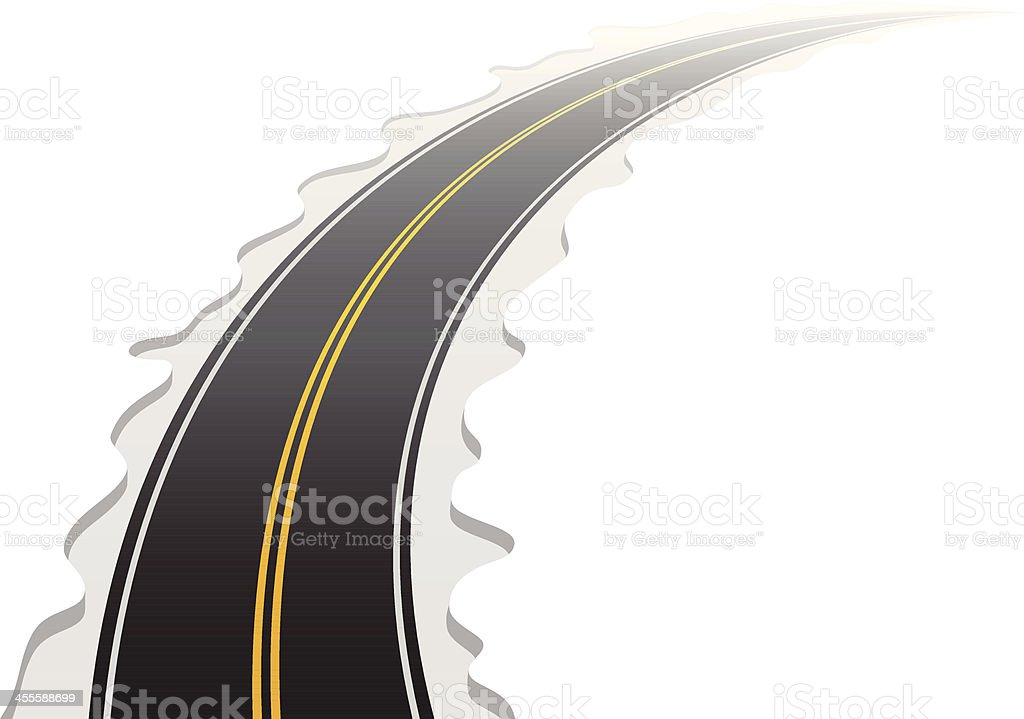 Road royalty-free stock vector art