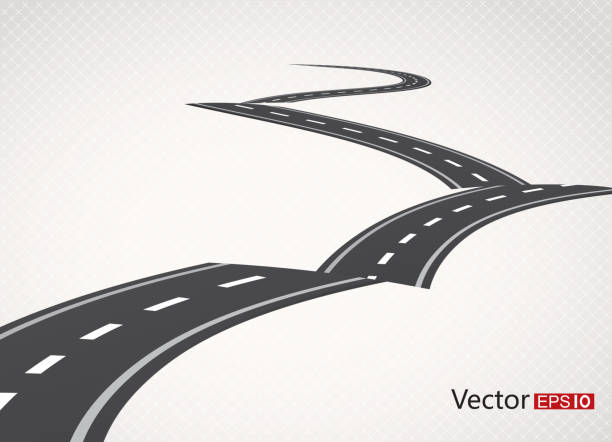 Road Gradient and transparent effect used. driveway stock illustrations